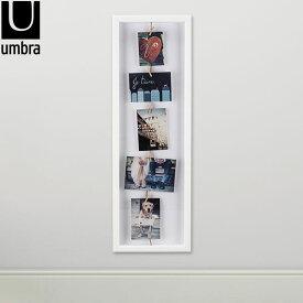 アンブラ UMBRA フォトフレーム クローズラインフリップ フォトディスプレイ PHOTO DISPLAY CLOTHESLINE FLIP 写真 311020-660 ホワイト あす楽