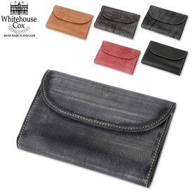 【2000円クーポン適用】 Whitehouse Cox ホワイトハウスコックス 3 Fold Purse CLOSE 14cm × 9.5cm OPEN 14cm × 25cm S7660 財布 あす楽 キャッシュレス