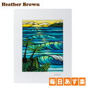 Heather Brown ヘザーブラウン Open Edition Matted Art Prints アートプリント Sunset Swell サンセットスウェル HB9…