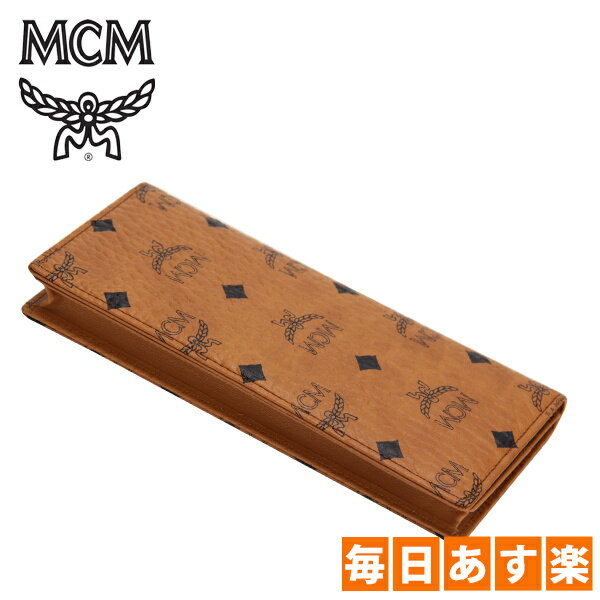 MCM エムシーエム Heritage Line ヘリテージライン フラップウォレット/ツーフォルドラージ コニャック [4999円以上送料無料]
