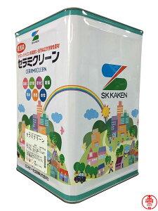 セラミクリーン つや有り 16kg 白・SR標準色(淡彩)・日本塗料工業会塗料用標準色(淡彩) 高機能シリコン樹脂 水性外壁塗料 エスケー化研