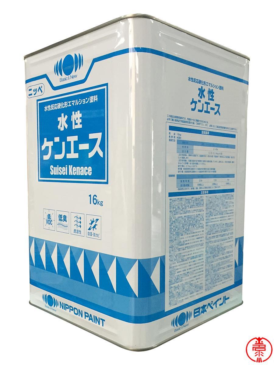 【送料無料】水性ケンエース 白 16kg 高機能水性塗料 日本ペイント