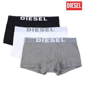 ディーゼル DIESEL メンズ ボクサーパンツ 男性下着 ブランドロゴ 無地 綿混 【メール便 送料無料】
