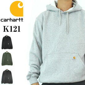 【送料無料】carhartt K121 パーカー 裏起毛 厚手 大きいサイズ アメカジ ミッドウェイト S M L XL 10.5オンス スウェット メンズ ブランド 無地 カーハート