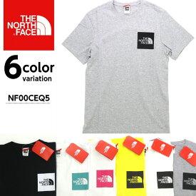 【THE NORTH FACE ザノースフェイス】ボックスロゴ 半袖 Tシャツ メンズ FINE TEE NF00CEQ5 S/S 【メール便可】