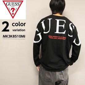GUESS ゲス ワイドシルエット ロングスリーブ Tシャツ MK3K8510MI 【 メール便 送料無料 】ビッグシルエット ロンT 長袖 ロゴ バックプリント