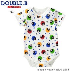 DOUBLE.B/ミキハウスダブルB★アフロプリント★半袖ボディシャツ【size70c/80c/90cm】