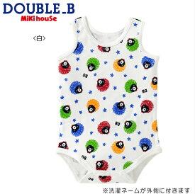 DOUBLE.B/ミキハウスダブルB★アフロプリント★ランニングボディシャツ【size70c/80c/90cm】