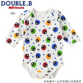 DOUBLE.B/ミキハウスダブルB★アフロプリント★長袖ボディシャツ【size70c/80c/90cm】