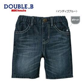 DOUBLE.B/ミキハウスダブルB★Everyday Double.B★6分丈デニムパンツ【80c/90c/100c/110c/120c/130c/140c/150cm】