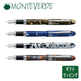 【正規販売店】MONTEVERDE モンテベルデ マウンテン 万年筆 樹脂 ステンレス キャップ 両用式