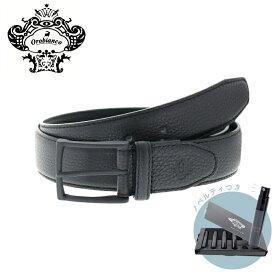 【正規販売】Orobianco オロビアンコ オールブラックシリーズ all black series SHRINK ベルト メンズ 黒 日本製 ORB-011210 牛革 本革 レザー 35mm シュリンク