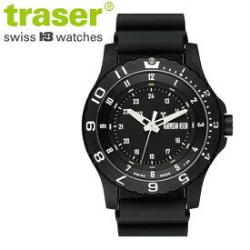 【正規販売】Traser トレーサー TYPE6 MIL-G Black サファイア メンズ クオーツ 腕時計 P6600.41F.13.01