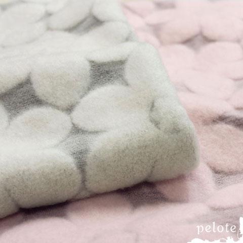 パイル花柄ジャガード モッサー起毛(160cm幅) 生地