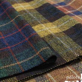 コットンツイードチェック(生地 布 タータンチェック 秋冬 洋服 バッグ ハンドメイド 綿100%)
