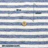 【25日限定ポイント10倍】リネンボーダーニット135cm幅(生地布麻100%日本製はおりものストール洋服地Tシャツ夏に涼しい生地ブルー系シマシマハンドメイド)【メール便1mまで/50cm単位】