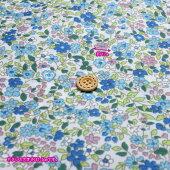 ナイロンオックス撥水加工プティフローラル(生地布ナイロン100%花柄水をはじくハンドメイド)【メール便2mまで/50cm単位】
