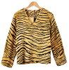 老式 1960 年-1970年 / 有趣時尚科爾的加利福尼亞州和回拉鍊人造毛皮縫 / 老虎設計虎事實遠 / L 女士相當於: