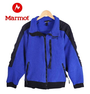 Made in USA / Marmot Marmot / nylon toggle full zip frees jacket / blue x black mens M equivalent to 1 * /
