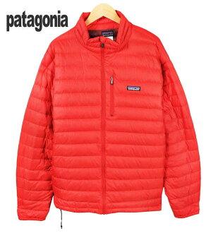 2005年製造(F5)/patagonia巴他戈尼亞/Down Sweater降低毛衣/薄羽毛衣/紅/人XL▽