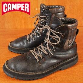 CAMPER カンペール / マウンテンブーツスタイル 編み上げブーツ / ブラック レザー / JPN27.0cm相当【中古】▽♪