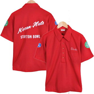 Vintage 1970's USA-made and King Louie King Louis and bowling Polo shirts back stitch / red men's