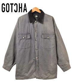 ヴィンテージ 1990年代 / GOTCHA ガッチャ / 内側キルティング シャツジャケット / ブルーグレー / メンズXL相当【中古】▽