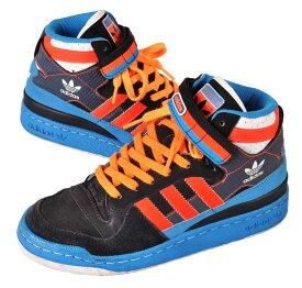 2009年製 / adidas アディダス / FRM FORUM MID フォーラム ミッド / ミッドカットバスケットシューズ / ブラック×ブルー×蛍光レッド / JPN23.0cm【中古】▽