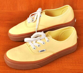 VANS vans / Authentic authentic / deckthews / banana yellow / gum sole textile inspection