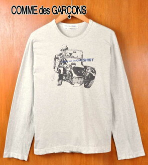 Made in Turkey and COMME des GARCONS SHIRT com, de, Garson t-shirts / long sleeve tee Ron T marbled grey and men S ▽