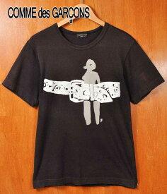 2000年 日本製 / COMME des GARCONS HOMME PLUS コム・デ・ギャルソン オム プリュス / 半袖Tシャツ / ブラック / メンズS相当【中古】▽