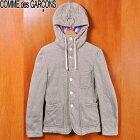 COMME des GARCONS SHIRT コム・デ・ギャルソン シャツ フード付き スウェットジャケット 霜降りグレー メンズS相当【中古】▼