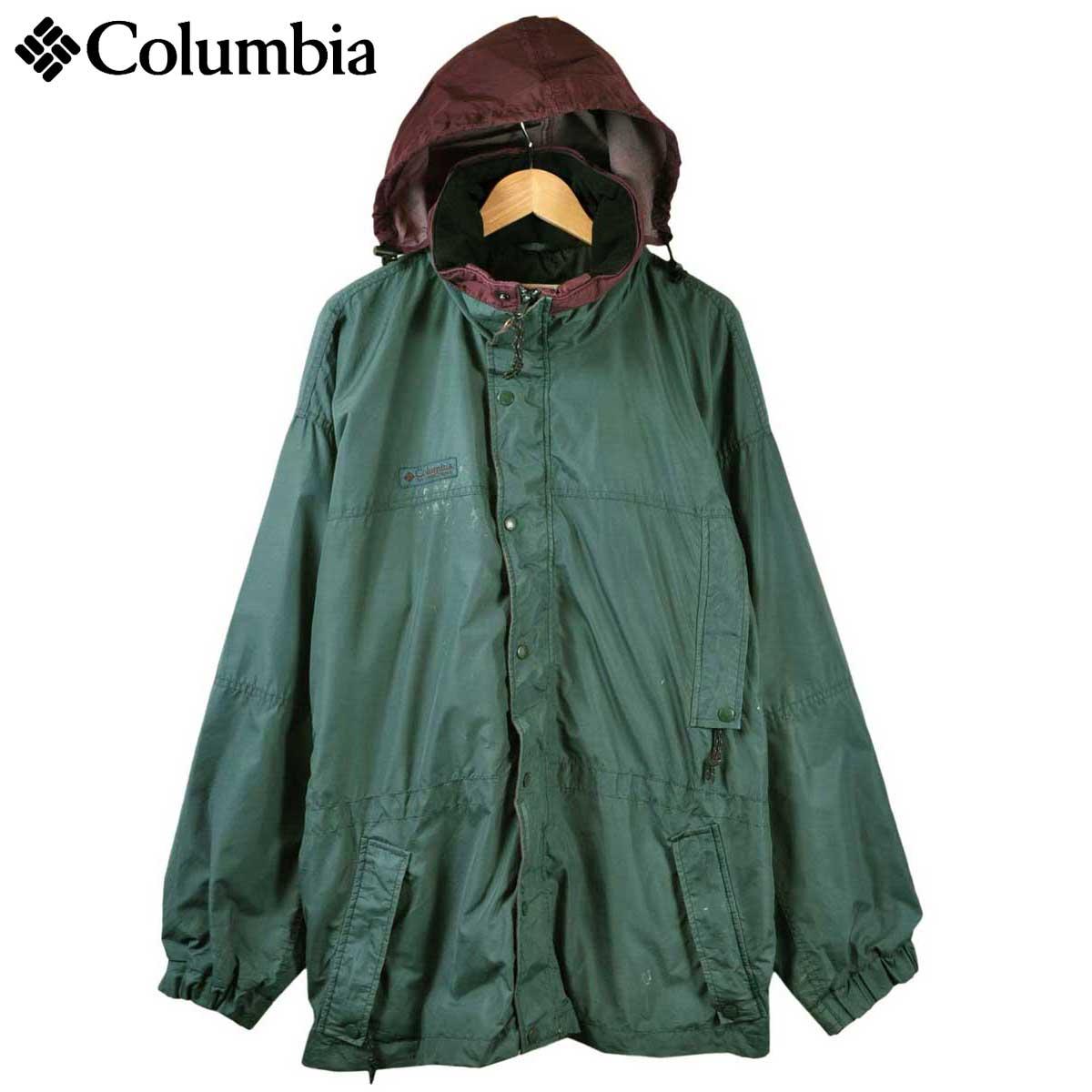【ビッグサイズ】ヴィンテージ 1990年代 Columbia コロンビア Long's Peak ロングスピーク マウンテンパーカ アウトドアジャケット ダークグリーン メンズXL相当【中古】▼