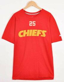 【ビッグTシャツ】NIKE ナイキ NFL Kansas City Chiefs カンザスシティ・チーフス ジャマール・チャールズ ナンバリング 半袖Tシャツ レッド メンズXL【中古】▼