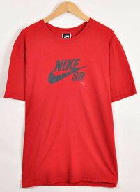 【ビッグTシャツ】NIKE SB ナイキSB スケートボーディング 半袖Tシャツ レッド メンズXL【中古】▼