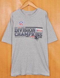 【ビッグTシャツ】Reebok リーボック NFL New England Patriots ニューイングランド・ペイトリオッツ 半袖Tシャツ 霜降りグレー メンズXL【中古】▼