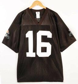 【ビッグサイズ】NFL TEAM APPAREL NFL Cleveland Browns クリーブランド・ブラウンズ ジョッシュ・クリブス フットボールシャツ ナンバリング ユニフォーム ダークブラウン メンズXL相当【中古】▼