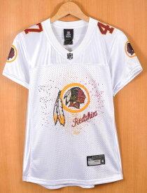 【展示品】Reebok リーボック NFL Washington Redskins ワシントン・レッドスキンズ クリス・クーリー フットボールシャツ ナンバリング メッシュ ユニフォーム ホワイト レディースS相当【新品】▼