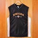 【ビッグサイズ】NBA New York Knicks ニューヨーク・ニックス バスケ タンクトップ ブラック メンズXL相当【中古】▼