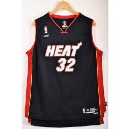 Reebok鋭步NBA Miami Heat邁阿密·hitoshakiru·奥尼爾籃球短袖汗衫制服編號黑色女士XL適合▼