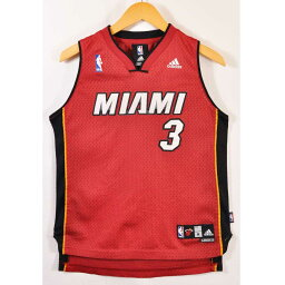 adidas愛迪達NBA Miami Heat邁阿密·加熱德韋因·韋德籃球短袖汗衫制服編號紅女士M適合▼
