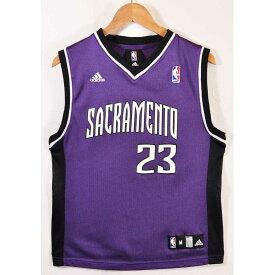 adidas アディダス NBA Sacramento Kings サクラメント・キングス ケビン・マーティン バスケ タンクトップ ユニフォーム ナンバリング パープル レディースM相当【中古】▼