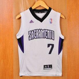 adidas アディダス NBA Sacramento Kings サクラメント・キングス ジマー・フレデッテ バスケ タンクトップ ユニフォーム ナンバリング ホワイト レディースS相当【中古】▼