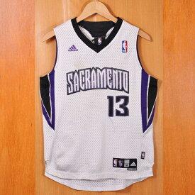 adidas アディダス NBA Sacramento Kings サクラメント・キングス タイリーク・エバンス バスケ タンクトップ ユニフォーム ナンバリング ホワイト レディースM相当【中古】▼