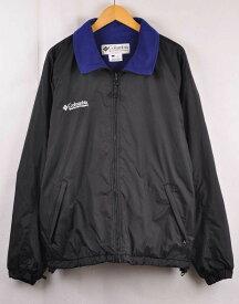 【ビッグサイズ】ヴィンテージ 1990年代 Columbia コロンビア 内側フリース ナイロンジャケット ブラック×ブルー系 メンズXL【中古】■