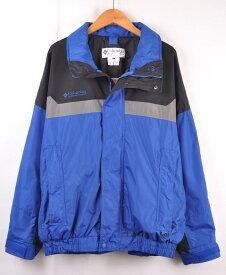 【ビッグサイズ】ヴィンテージ 1990年代 Columbia コロンビア アウトドアジャケット ブルー×ブラック×グレー メンズXL相当【中古】■