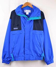 ヴィンテージ 1990年代 Columbia コロンビア マウンテンパーカ アウトドアジャケット ブルー×ブラック メンズM【中古】■