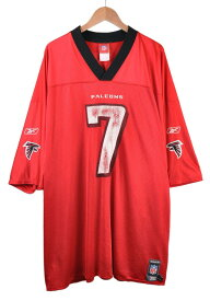 【ビッグサイズ】Reebok リーボック NFL Atlanta Falcons アトランタ・ファルコンズ マイケル・ヴィック フットボールシャツ ナンバリング メッシュ ユニフォーム レッド メンズ3XL相当【中古】■