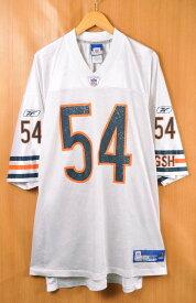 【ビッグサイズ】Reebok リーボック NFL Chicago Bears シカゴ・ベアーズ ブライアン・アーラッカー フットボールシャツ ナンバリング メッシュ ユニフォーム ホワイト メンズ3XL相当【中古】■