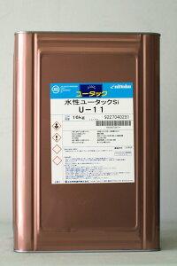 【送料無料】【注ぎ口(ベロ付)】水性ユータックSi U-11 16Kg/缶 日本特殊塗料 塗床 1液 水性 作業性 防塵 環境対応 薄膜